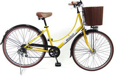 【当店オリジナル!バスケット装備モデル】【送料無料】【2013年モデル】ルノーファッションサイクルクラシック266L(RENAULT266L-CLASSIC)(26インチ/6段変速付)【オートライト装備のスタイリッシュ自転車!】