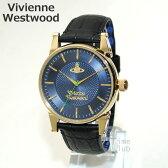 Vivienne Westwood (ヴィヴィアンウエストウッド) 腕時計 VV065NVBK ブラック レザー/ゴールド/ネイビー 時計 メンズ ヴィヴィアン 【送料無料(※北海道・沖縄は1,000円)】【楽ギフ_包装選択】