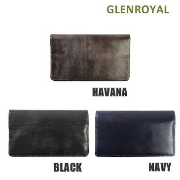 グレンロイヤル 財布 長財布 03-2474 BLACK HAVANA NAVY GLENROYAL ボックスなし ブライドル レザー メンズ 【送料無料(※北海道・沖縄は1,000円)】