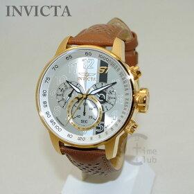 INVICTA(インビクタ)腕時計時計19287S1Rallyクロノグラフゴールド/ブラウンメンズレザーインヴィクタ【送料無料(※北海道・沖縄は1,000円)】