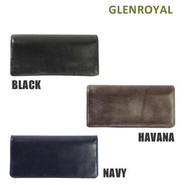 グレンロイヤル 財布 長財布 03-2475 BLACK HAVANA NAVY GLENROYAL ボックスなし ブライドル レザー メンズ 【送料無料(※北海道・沖縄は1,000円)】