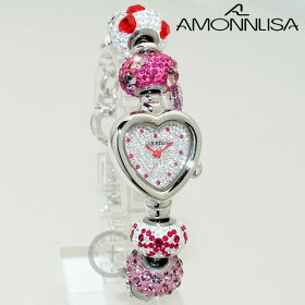AMONNLISAアモンリザ腕時計AL31203キティ時計レディーススワロフスキー【送料無料(※北海道・沖縄は1,000円)】