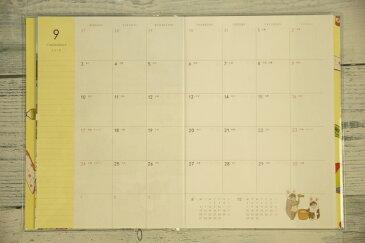 TATSUMI PUBLISHING 辰巳出版 2019年1月始まり(2018年10月始まり) 手帳 月間式(月間ブロック) B6 世にも不思議な猫世界手帳 小物 大人かわいい おしゃれ 可愛い リフィル ほぼ 日 干支 スケジュール帳 手帳のタイムキーパー