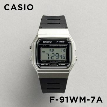 【並行輸入品】CASIO STANDARD DIGITAL カシオ スタンダード デジタル F-91WM-7A 腕時計 メンズ レディース チープカシオ チプカシ プチプラ シルバー ブラック 黒