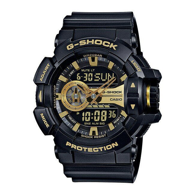【並行輸入品】【10年保証】CASIO G-SHOCK カシオ Gショック GA-400GB-1A9 腕時計 メンズ キッズ 子供 男の子 アナデジ 防水 ブラック 黒 ゴールド 金 送料無料