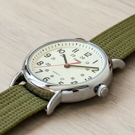 TIMEXWEEKENDERCENTRALPARKFULLSIZEタイメックスウィークエンダーセントラルパークメンズT2N651送料無料腕時計時計カーキアイボリーナイロンベルトT2N651
