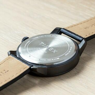 【並行輸入品】TIMEX MOD44 44MM タイメックス モッド44 44MM TW2R64300 腕時計 メンズ アナログ ブラック 黒 レザー 革ベルト