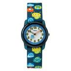 【並行輸入品】TIMEX KIDS TIME MACHINE タイメックス キッズ タイム マシーン TW7C25800 腕時計 子供 男の子 女の子 アナログ ネイビー ホワイト 白 モンスター ナイロンベルト