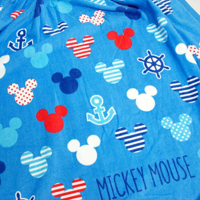ラップタオル子供キッズ男の子ミッキー巻きタオル水泳プールタオルスイミング着替えバスタオル80cm☆全12色