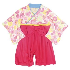 袴 ロンパース 女の子 ベビー 赤ちゃん 初節句 着物 ひなまつり はかま 和装 カバーオール フォーマル べビー服 60cm 70cm 80cm 90cm