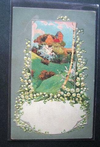 アンティーク ポストカード すずらん[アメリカ 1900年代初期]絵葉書