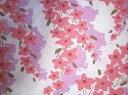 フィードサック 白地赤ピンクお花 (1/4サイズ)