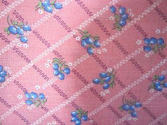 フィードサック ピンク地ブルーの小さいチューリップ (1/16サイズ)