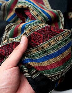 ベトナム ターイ族の伝統織物スカーフ・デコレーション布 タイ族 タイー族 ストール アジア布 アジアン布 エスニック布 ラック村   【送料無料&250円クーポン進呈】