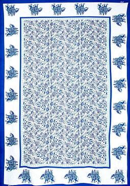 マルチクロス 唐草【約210cm×約130cm】 / シングル ベッドカバー インド綿 布 ソファーカバー レビューでタイカレープレゼント あす楽