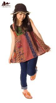 無袖拼布 | 印度外衣棉列印少數民族亞洲婦女無袖上衣服裝服飾