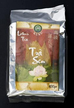 蓮茶 (蓮花茶) 茶葉タイプ 100g 【KUKU】 / ベトナム料理 ベトナム茶 レビューでタイカレープレゼント あす楽