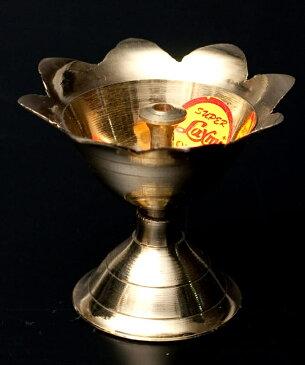蓮型オイルランプ&香立て(5cm) / お香たて 灯心 レビューでタイカレープレゼント あす楽