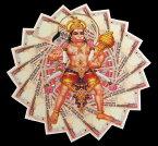 札にハヌマン(大) / インド 神様 ステッカー シール 本 印刷物 ポストカード ポスター