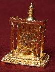 ゴールド ミニ ハヌマン 寺院タイプ / 神様像 Hanuman インド 置物 エスニック アジア 雑貨