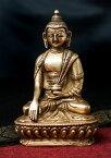【送料無料】 アクショービャ 阿しゅく如来 14.5cm / 仏陀 仏像 神様像 ブラス インド 置物 エスニック アジア 雑貨