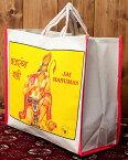 マサラ帆布バッグ ハヌマン / インド 日用品 庶民 神様バッグ ポーチ エスニック アジア