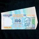 インドのこども銀行【100ルピー札】 / おもちゃ 紙幣 ガンジー ガンディ アジア トイ エスニック 雑貨