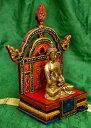 チベットの木彫りの神像・仏像用台座 高さ 24cm / 送料無料 レビューでタイカレープレゼント あす楽
