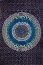 マルチクロス 円形更紗〔約204cm×約136cm〕 / ソファカバー 布 壁掛け カーテン ダブル ベッドカバー インド綿 ソファーカバー アジア カディコットン KHADI ファブリック エスニック