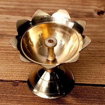 蓮型オイルランプ&香立て(5.4cm) / お香たて 灯心 レビューでタイカレープレゼント あす楽