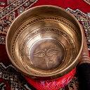 【送料無料】 【一点物】チベタンアンティックシンギングボウル【音階 G】約540g(スティック付属) / Singingbowl シンギングボール 浄化 おりん アンティーク ネパール 楽器 仏教 瞑想 民族楽器 インド楽器 エスニック楽器 ヒーリング楽器・・・