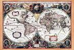 【17世紀】アンティーク地図ポスター Nova Totius Terrarum Orbis Geographica Ac Hydrographica Tabula 【両半球世界地図】 / 古地図 インド 東南アジア 本 印刷物 ステッカー ポストカード