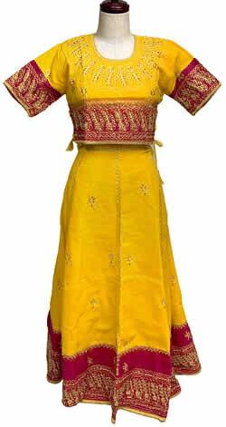 インドのドレス-チャニヤ・チョウリ サリー エスニック 衣料 服 ファッショ...