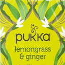 【PUKKA】 lemongrass & ginger オーガニックハーブティー(カフェイン