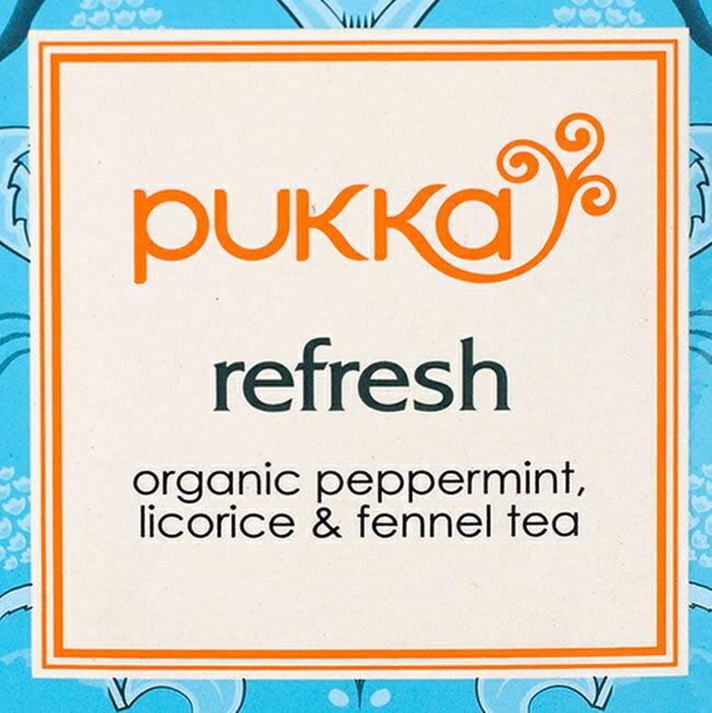 茶葉・ティーバッグ, ハーブティー  mint refresh PUKKA HERBS