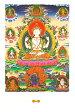 チェンレシのポストカード はがき おみやげ タンカ 曼陀羅 マンダラ 仏画 インド 本 印刷物 ステッカー ポスター