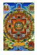 チェンレシ・マンダラのポストカード はがき おみやげ 手紙 タンカ 曼陀羅 仏画 インド 本 印刷物 ステッカー ポスター