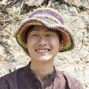ヘンプのしましまカラーハット / ネパール 帽子 ヘンプハッ...