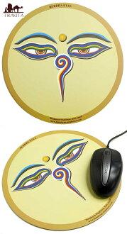 滑鼠墊滑鼠墊-布達伊 (綠色茶顏色),亞洲滑鼠墊,滑鼠墊尼泊爾