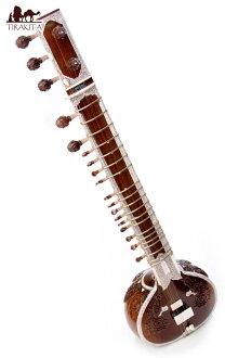 民族樂器、 細琴 + 玻璃光纖案例星星,錫塔爾琴,印度樂器、 絃樂器印度