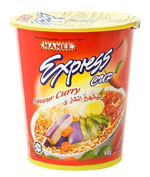 インスタント ヌードル カレー味 カップ 付き 【MAMEE】 / マレーシア料理 インスタントヌードル あす楽