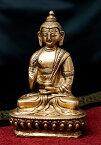 【送料無料】 アモーガシッディー 不空成就如来 14.5cm / 仏陀 仏像 神様像 ブラス インド 置物 エスニック アジア 雑貨