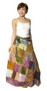 20通りの着方ができる魔法のスカート 【送料無料&あす楽】 magic skirt サリー オールドサリー マキシスカート 旅行 リゾート インド アジア ロングスカート エスニック 衣料 服 ファッション