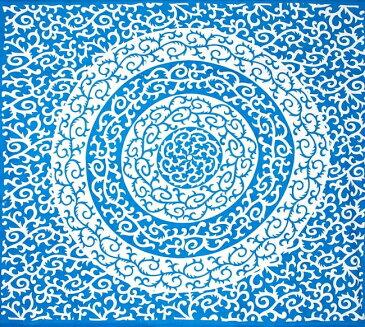 マルチクロス 唐草【約210cm×約230cm】 / ダブル ベッドカバー インド綿 布 ソファーカバー レビューでタイカレープレゼント あす楽