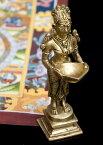 ラクシュミ香立 約12.3cm / Laxmi 灯心 オイルランプ インド 神様 置物 エスニック アジア 雑貨