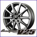 ホイール Euro Speed V25 5.5-14 +38 4H 100 ブラックポリッ...