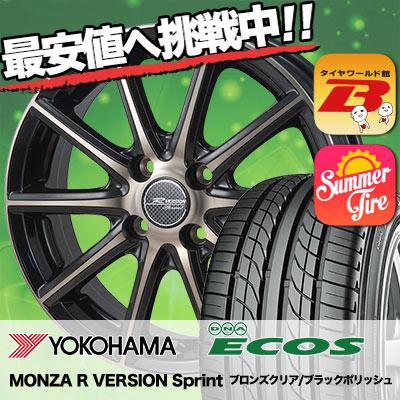 205/40R17 80W YOKOHAMA ヨコハマ DNA ECOS ES300 DNA エコス ES300 MONZA R VERSION Sprint モンツァ Rヴァージョン スプリント サマータイヤホイール4本セット