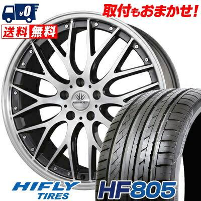 225/35R20 HIFLY ハイフライ HF805 HF805 BADX LOXARNY MULTIFORCHETTA バドックス ロクサーニ マルチフォルケッタ サマータイヤホイール4本セット