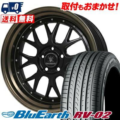 245/45R19 98W YOKOHAMA ヨコハマ BLUE EARTH RV02 ブルーアース RV02 Black Diamondo BD00 ブラックダイヤモンド BD00 サマータイヤホイール4本セット
