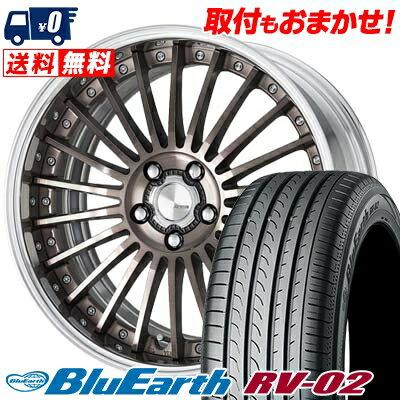 245/35R20 95W XL YOKOHAMA ヨコハマ BLUE EARTH RV02 ブルーアース RV02 2080-5H ワーク ランベック エルエフワン サマータイヤホイール4本セット